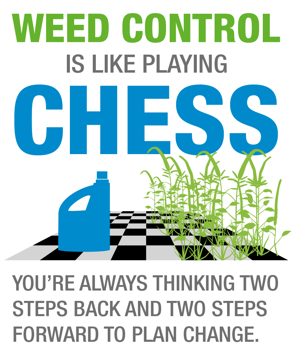 Weed control is like chess